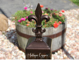 4x4 fleur de lis post cap Antique Copper