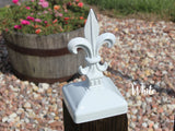 Wrought Iron Fleur-de-lis Post Cap for 4x4 wood post