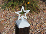 Star Fence Post Cap, Decorative Star for 4x4 Deck and Fence Post Top