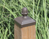 Wrought Iron Pineapple top Post Cap for 4x4 wood / composite Post, Gate, Fence, Mailbox post cap