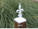 6x6 Fleur de lis Large Wood Fence Post Cap