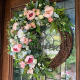 welcome wreath decor
