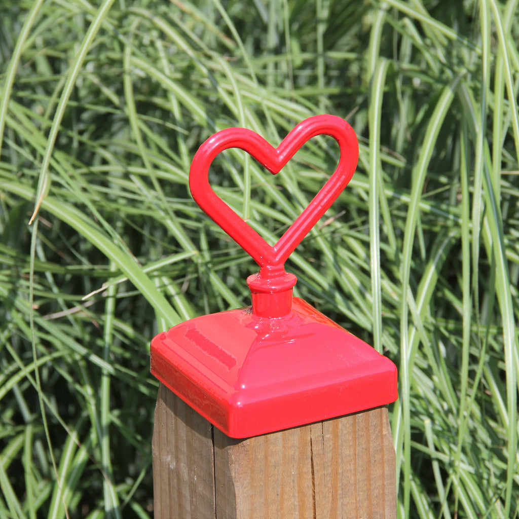 Decorative Heart post cap