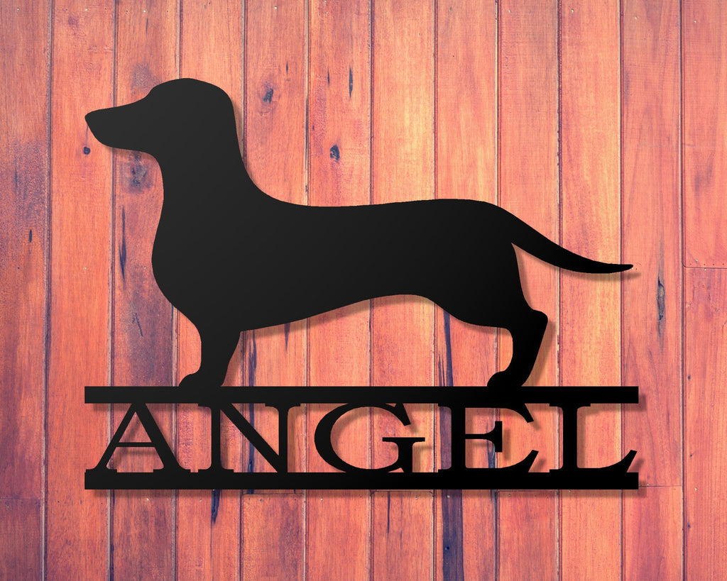 Dachshund personalized sign