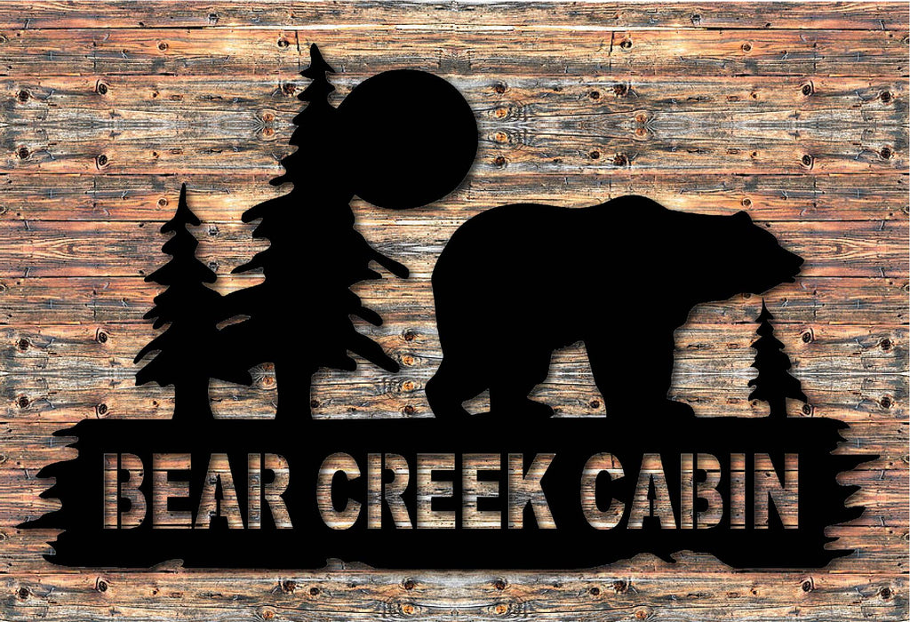 Personalized Bear Cabin Sign