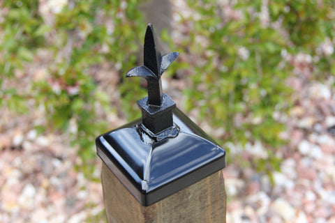 Wrought Iron Triad Post Cap for 4x4 wood / composite Post ...