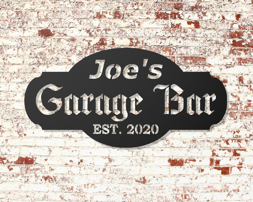 Garage Bar Sign