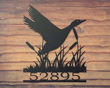 Duck house number sign, metal duck sign, will robertson