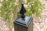 Wrought Iron Quad Spear Post Cap for Nominal 6x6 Wood Fence Post