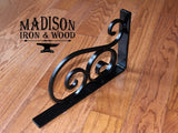 Heavy Duty Decorative S Scrolled  with Spiral Scroll Shelf Bracket