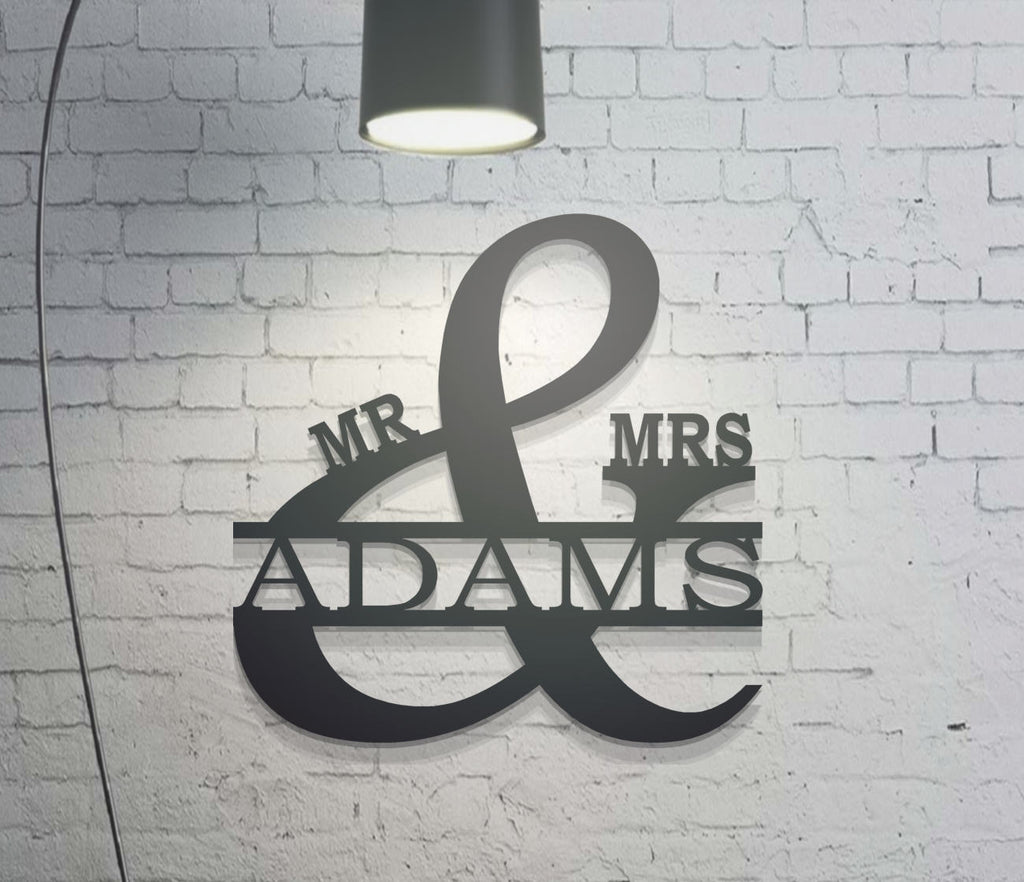 Mr and Mrs Personalized Metal Sign