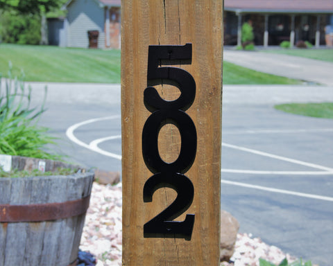 Customized Vertical Street Number Sign