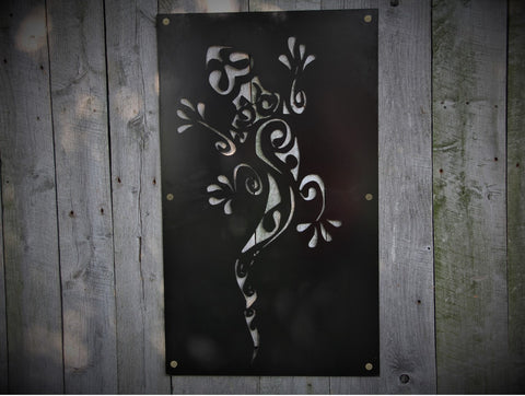 Gecko Designed Decorative Steel Wall Decor
