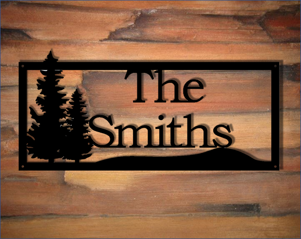 Personalized Tree Metal Sign Madison Iron And Wood