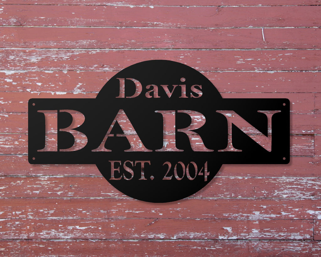 Personalized Metal Barn Sign