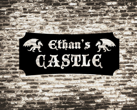Castle decorative metal sign