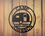 Camper Personalized sign