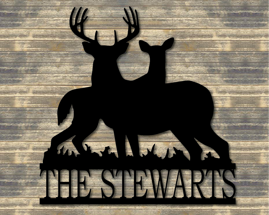 Personalized Family Deer Sign
