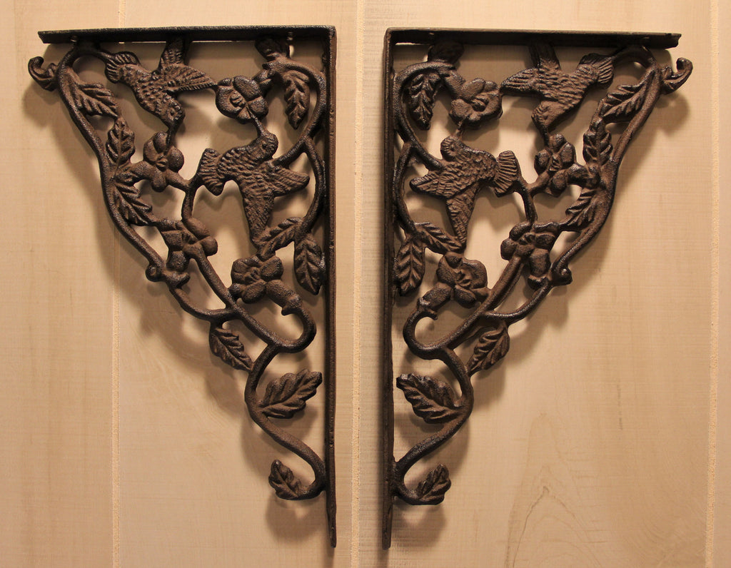 Wrought Iron Hummingbird Shelf Bracket