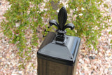 Wrought Iron Budding Fleur-De-Lis Post Cap for 6x6 Wood Post