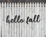 hello fall fence decor