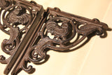 Country Style Wrought Iron Chicken design Shelf Bracket