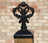 Cast Iron Decrative Victorian Post Cap for 4x4 wood / composite Post, Gate, Fence, Mailbox post