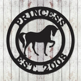 Personalized Horse Sign