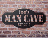 Custom personalized man cave sign