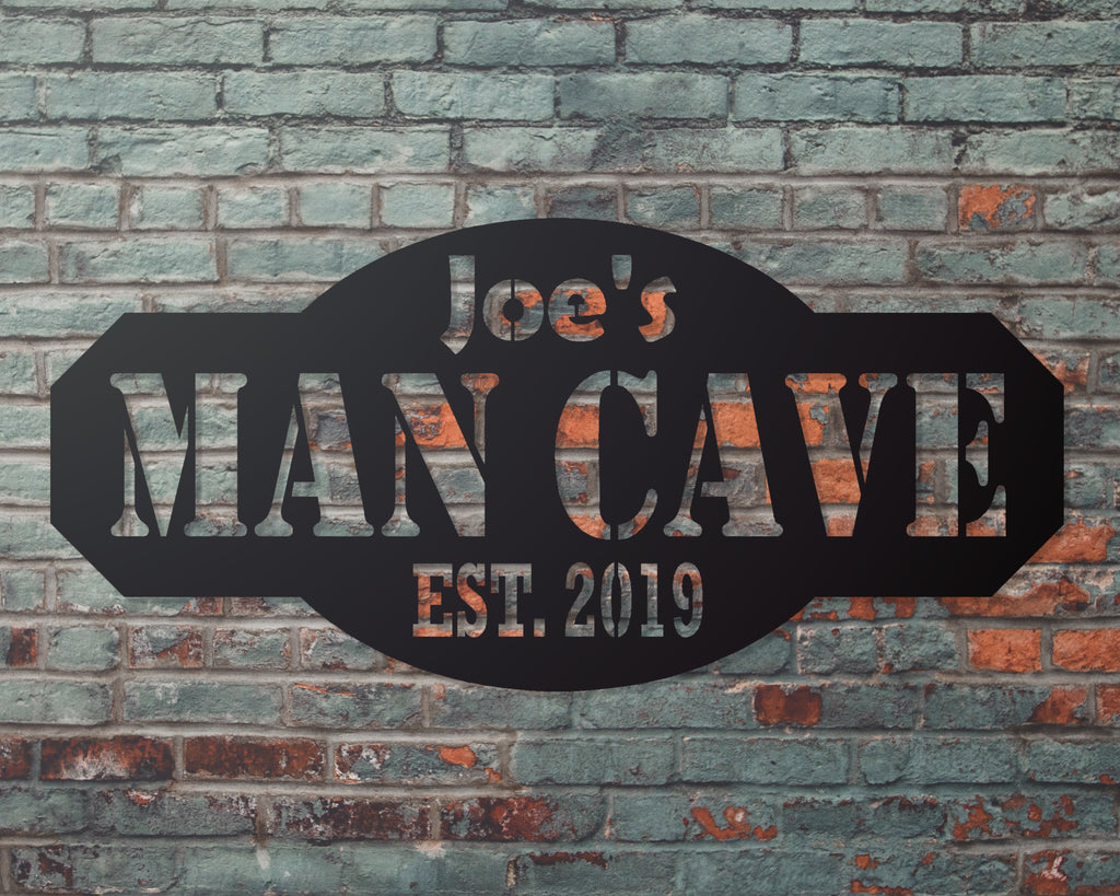 Mancave Personalized Sign
