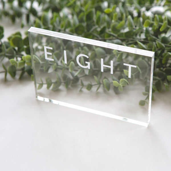 Clear Table Numbers