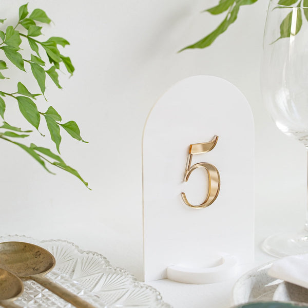 Arched Table Numbers