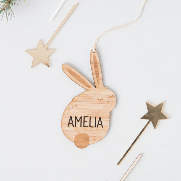 Personalised Bunny Decoration