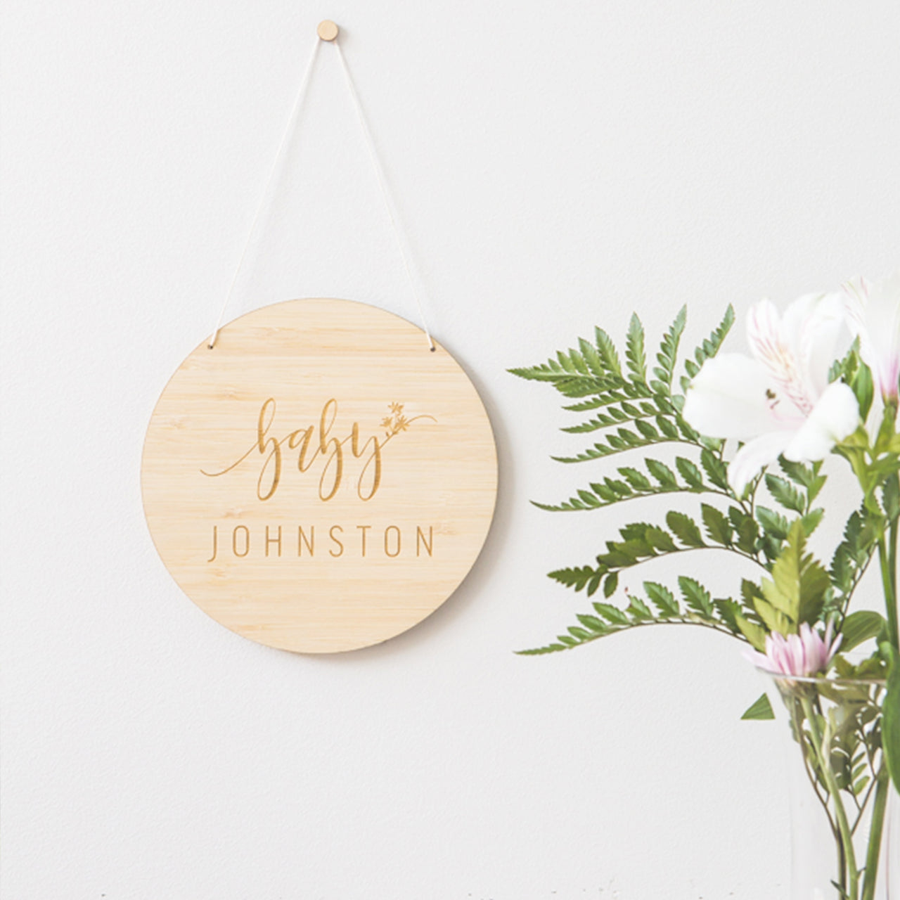 Baby Announcement Wall Hanging