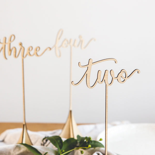 Bamboo Table Numbers - Style 1