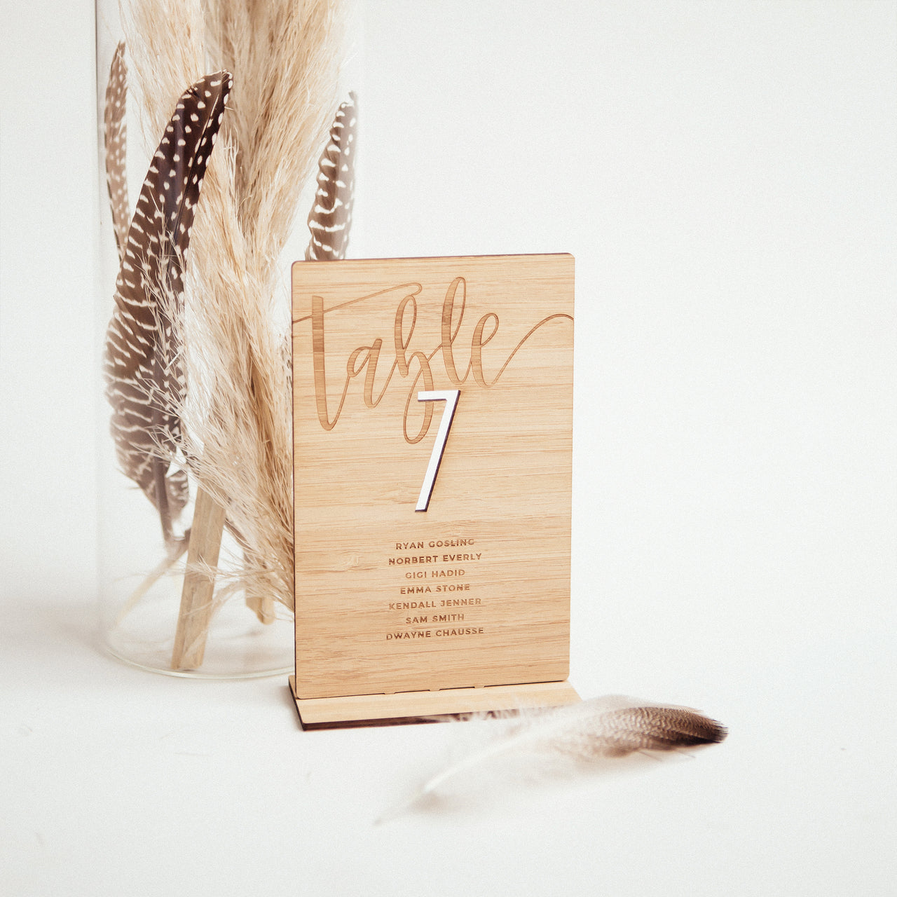 Bamboo Table Numbers - Style 2