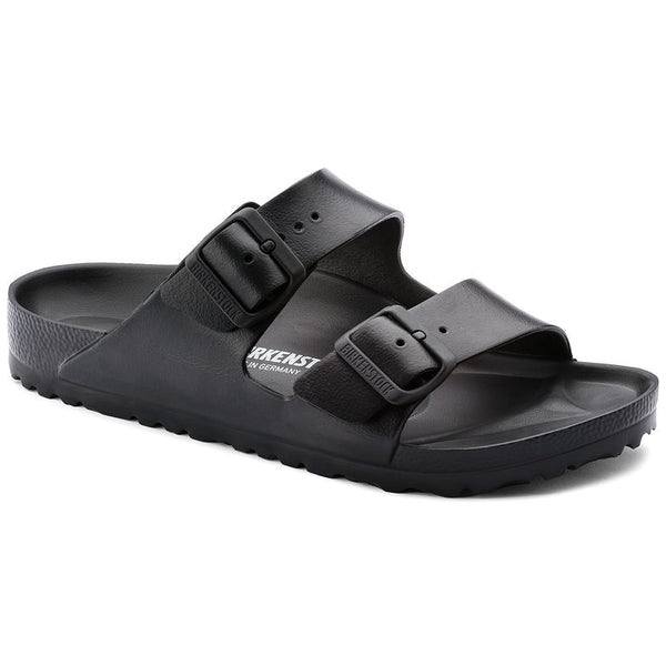 Black plastic rubber birkenstock, plastic slider, comfy slider, summer footwear. Uk stockist