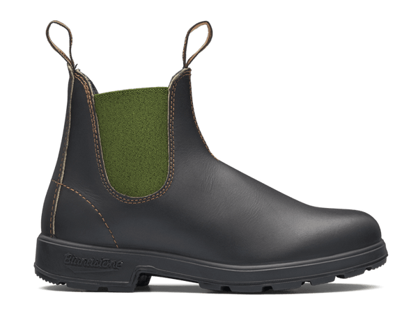 BLUNDSTONE 519 Stout Brown with olive elastic
