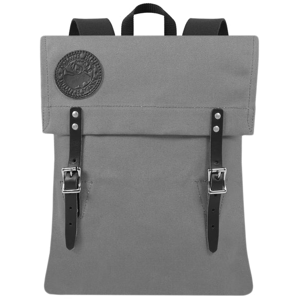 Grey Men's Backpack. Men's backpack in grey. Duluth pack. hARD WEARING MAN BAG. bag made from Canvas and Leather. Travel Bag. Bag for adventurer. Rowing Bag
