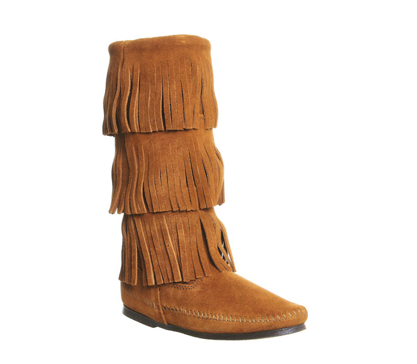 THREE LAYER FRINGE BOOT