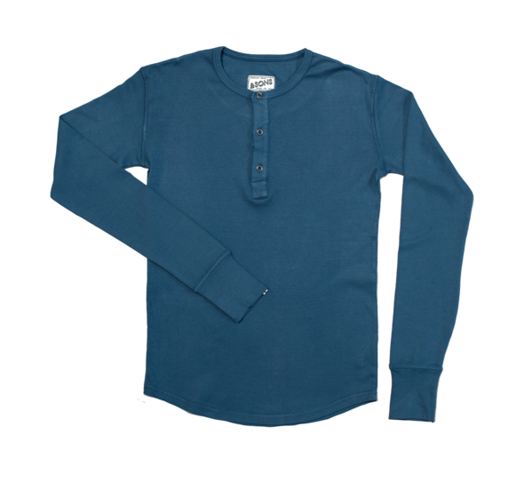ELDER GRANDAD HENLEY (two colours available), top, &Sons, Mr Mullan's General Store, SM / Teal, SM, Teal, [option3]. We recommend using the default value. Default value is: ELDER GRANDAD HENLEY (two colours available) - Mr Mullan's General Store