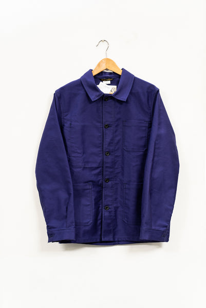 FRENCH WORKWEAR JACKET - MOLESKIN (3 colours available), jacket, Le Laboureur, Mr Mullan's General Store, Navy Blue / XS, Navy Blue, XS, [option3]. We recommend using the default value. Default value is: FRENCH WORKWEAR JACKET - MOLESKIN (3 colours available) - Mr Mullan's General Store