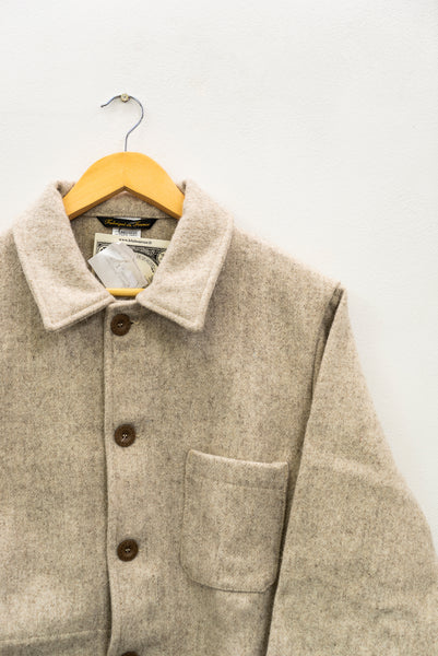 Cream Wool French Authentic Work Wear Mens Jacket