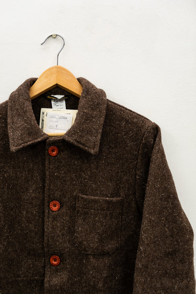 Brown Wool French Authentic Work Wear Mens Jacket