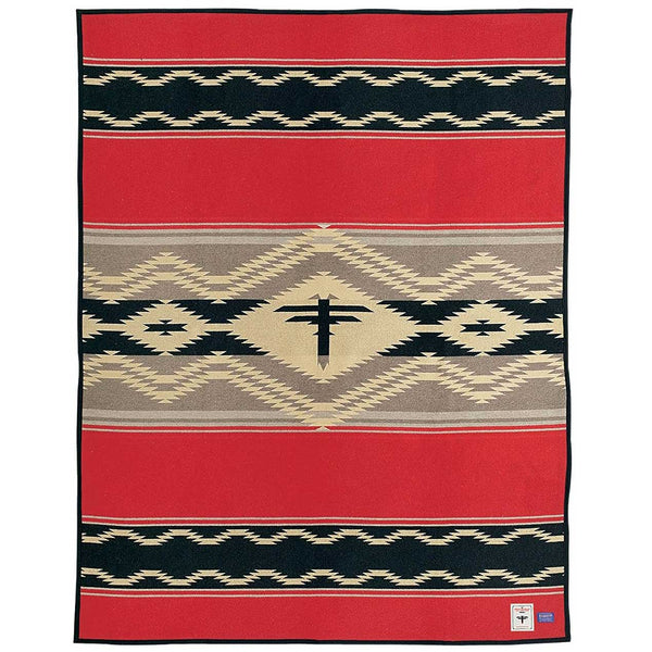 AMERICAN INDIAN COLLEGE FUND BLANKET, blanket, Pendleton, Mr Mullan's General Store, [variant_title], [option1], [option2], [option3]. We recommend using the default value. Default value is: AMERICAN INDIAN COLLEGE FUND BLANKET - Mr Mullan's General Store