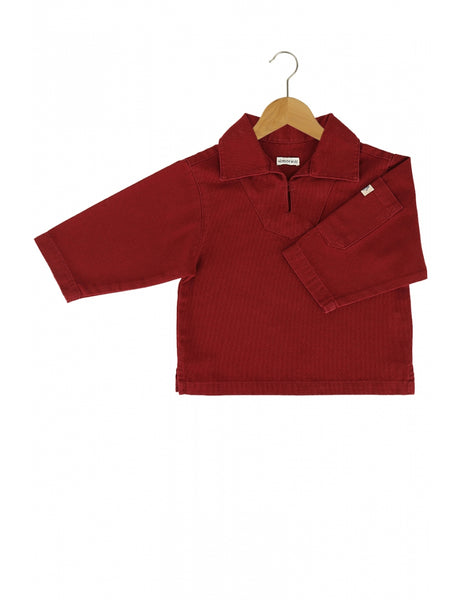 KIDS SMOCK - 2 COLOURS AVAILABLE, clothing, Armor lux, Mr Mullan's General Store, 2 years / Red, 2 years, Red, [option3]. We recommend using the default value. Default value is: KIDS SMOCK - 2 COLOURS AVAILABLE - Mr Mullan's General Store