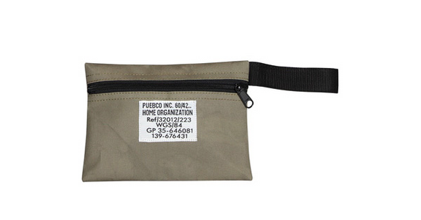 puebco fabric pouch, mens pouch, zip bag
