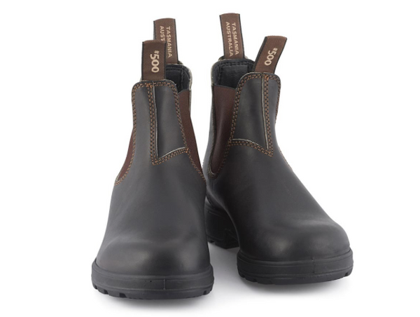 BLUNDSTONE 500 STOUT BROWN, Shoe, Blundstone, Mr Mullan's General Store, [variant_title], [option1], [option2], [option3]. We recommend using the default value. Default value is: BLUNDSTONE 500 STOUT BROWN - Mr Mullan's General Store