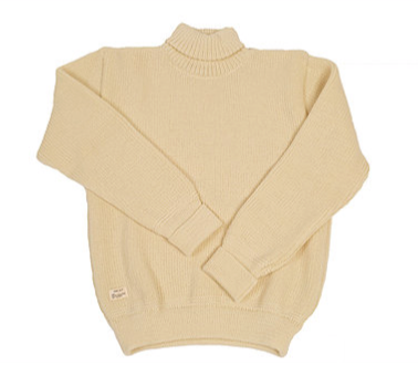 cream jumper, virgin woolheimat jumper, designer jumper.