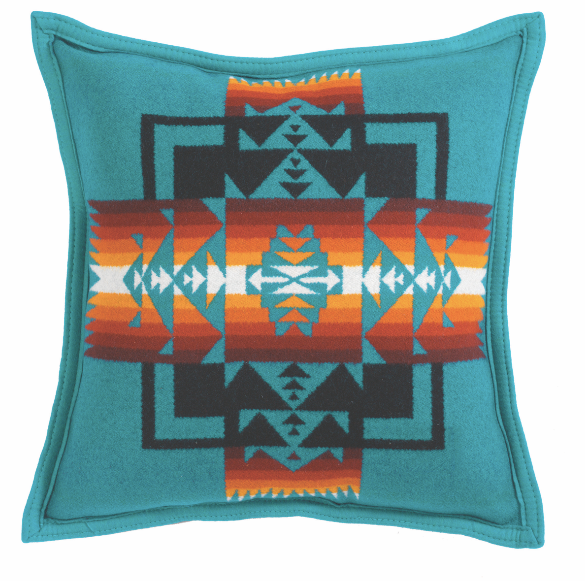 CHIEF JOSEPH DUCK/ FILL PILLOW 16x16 (4 designs available), pillow, Pendleton, Mr Mullan's General Store, Turquoise, Turquoise, [option2], [option3]. We recommend using the default value. Default value is: CHIEF JOSEPH DUCK/ FILL PILLOW 16x16 (4 designs available) - Mr Mullan's General Store